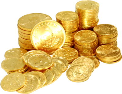 Gold Coins PNG HD - 128555