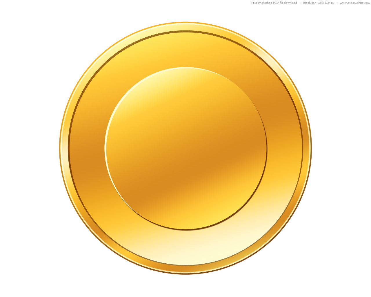 PSD gold coin icon | PSDGraphics - Gold Coins PNG HD