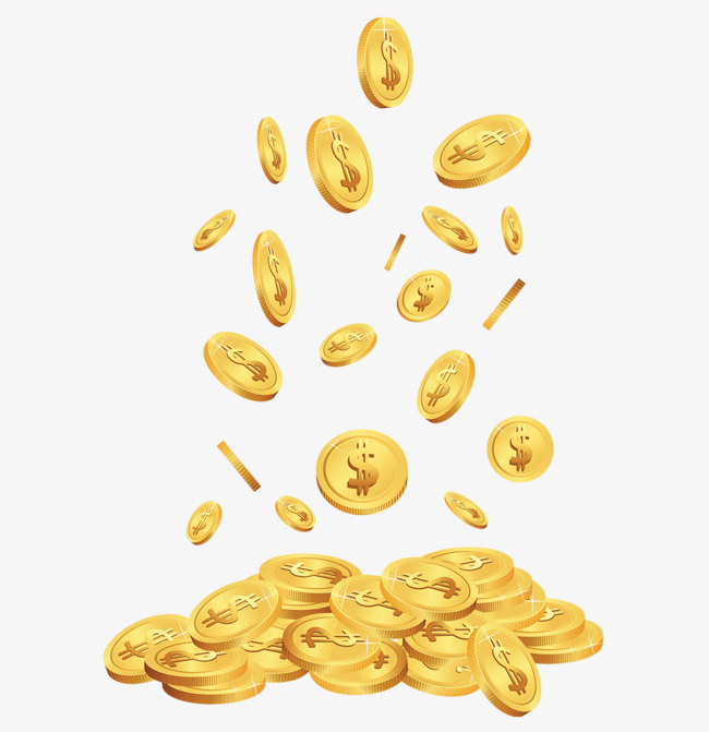 Spilled gold coins, Gold, Spilled Gold Coins, Gold Coin Stack PNG Image - Gold Coins PNG HD