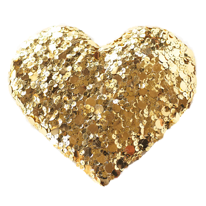 diy-gold-sequin-heart-6_clipped_rev_1 - Atlanta Wedding Photographer - Fine  Art Film Photography - Elle Golden Photography - Gold Glitter Heart PNG
