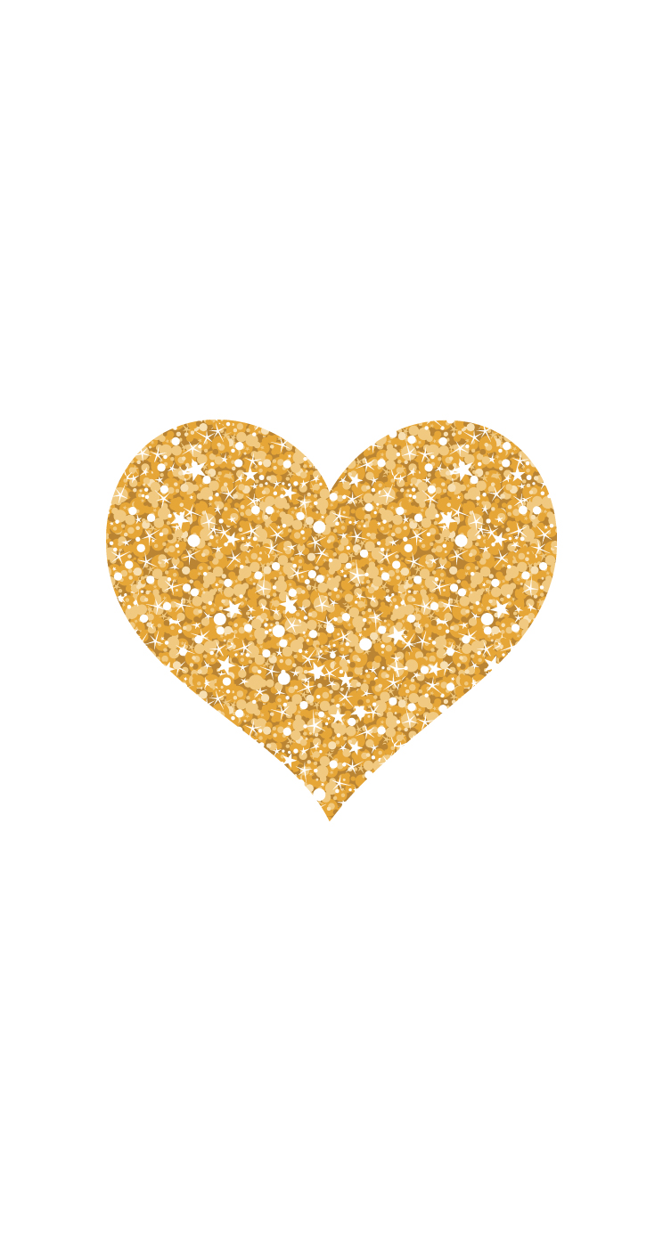 gold glitter heart by Pei - Gold Glitter Heart PNG