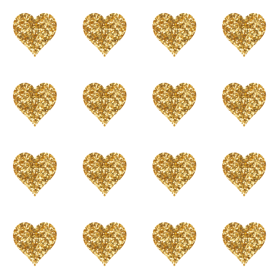 Gold Glitter Hearts Baby Fabric wallpaper - willowlanetextiles - Spoonflower - Gold Glitter Heart PNG