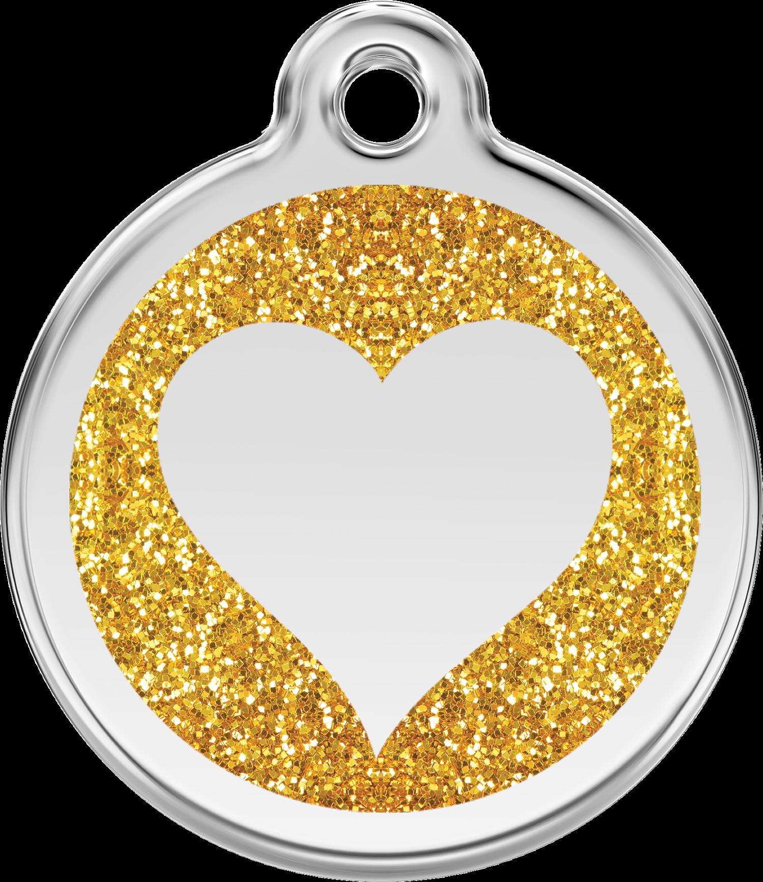 . PlusPng.com Image - Gold Glitter Heart PNG