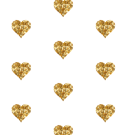 Small Hearts in Gold Glitter fabric by willowlanetextiles on Spoonflower -  custom fabric - Gold Glitter Heart PNG