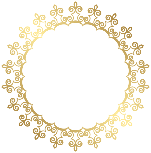 Gold Border Frame PNG HD - Gold HD PNG