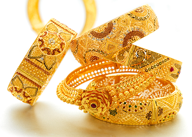 Exclusive Jewellery - Gold Bangle Designs - Gold PNG