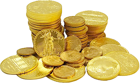 Gold coins PNG image - Gold PNG