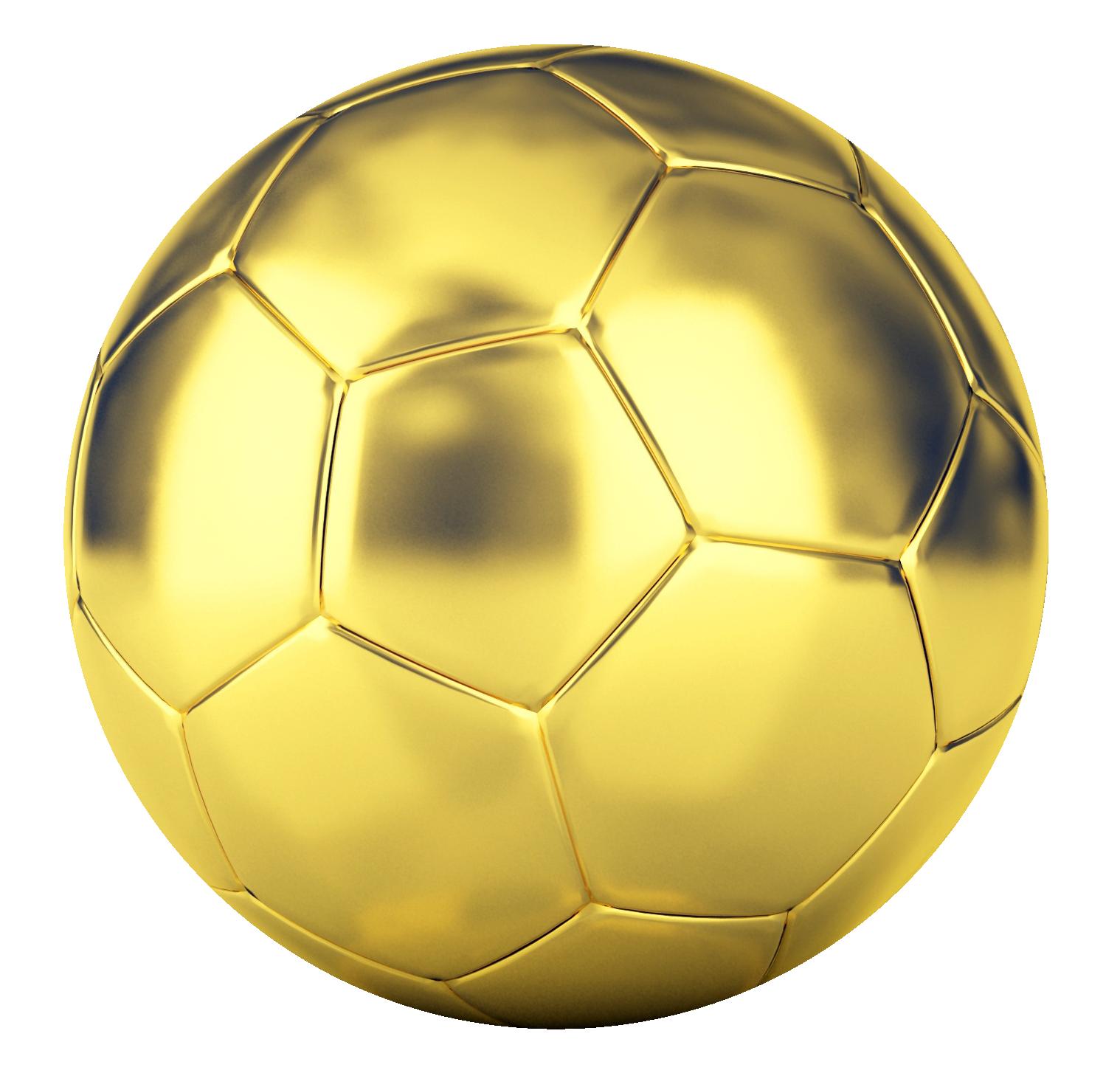 Golden Football PNG Transparent Image - Football PNG