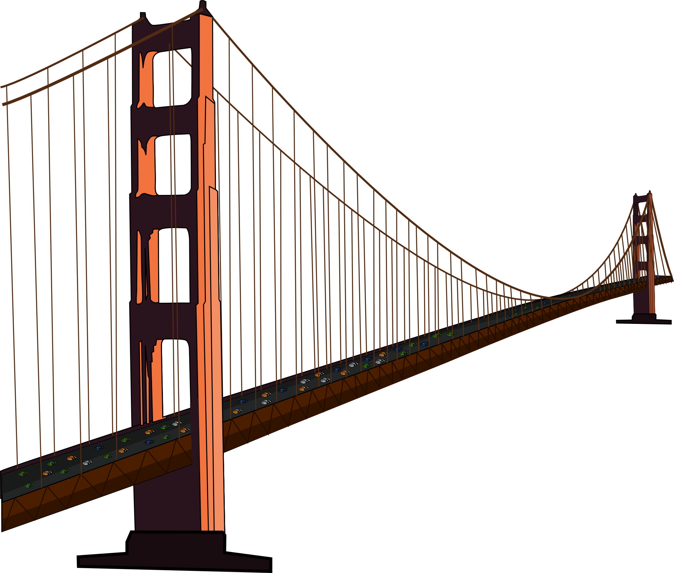 Free Golden Gate Bridge Clip Art - Golden Gate Bridge PNG HD