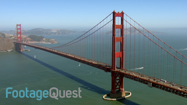Iconic HD aerial shot of San Franciscou0027s Golden Gate Bridge. This video  footage and other - Golden Gate Bridge PNG HD