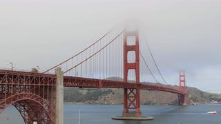 Subscription Library Ultra HD 4K Boat Ship Cars Traffic, Famous Golden Gate  Bridge, San Francisco Bay - Golden Gate Bridge PNG HD