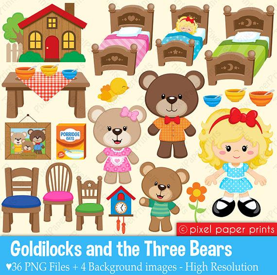Goldilocks And The Three Bears PNG - 157625