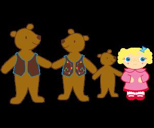 Goldilocks And The Three Bears PNG - 157633