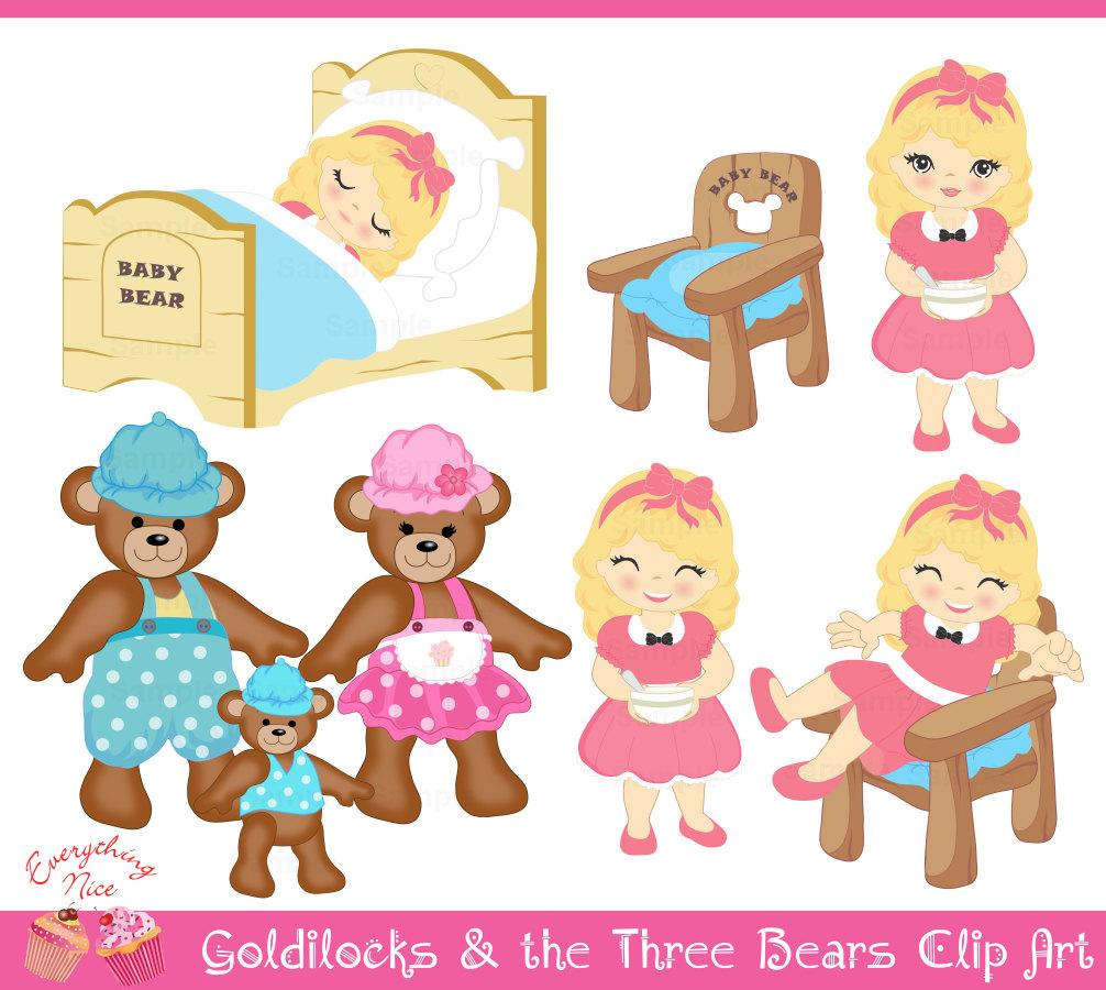 Goldilocks And The Three Bears PNG - 157637