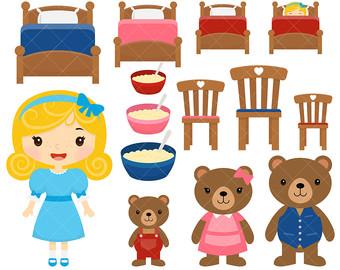 Goldilocks And The Three Bears PNG - 157635