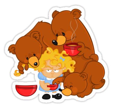Goldilocks And The Three Bears PNG - 157623