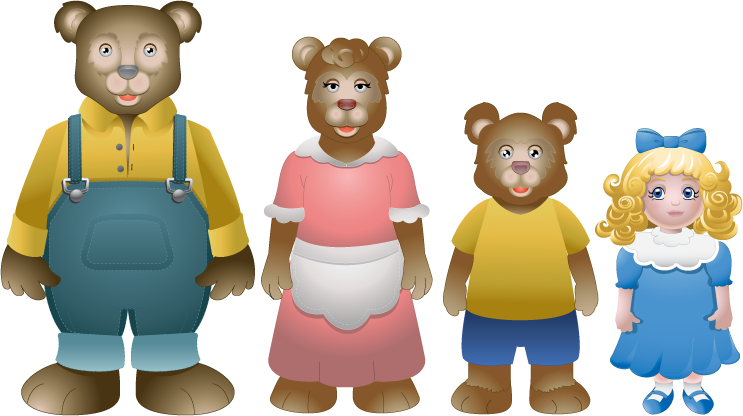 Goldilocks And The Three Bears PNG - 157624