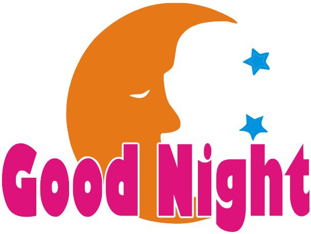 Good Night logo - Good Evening PNG