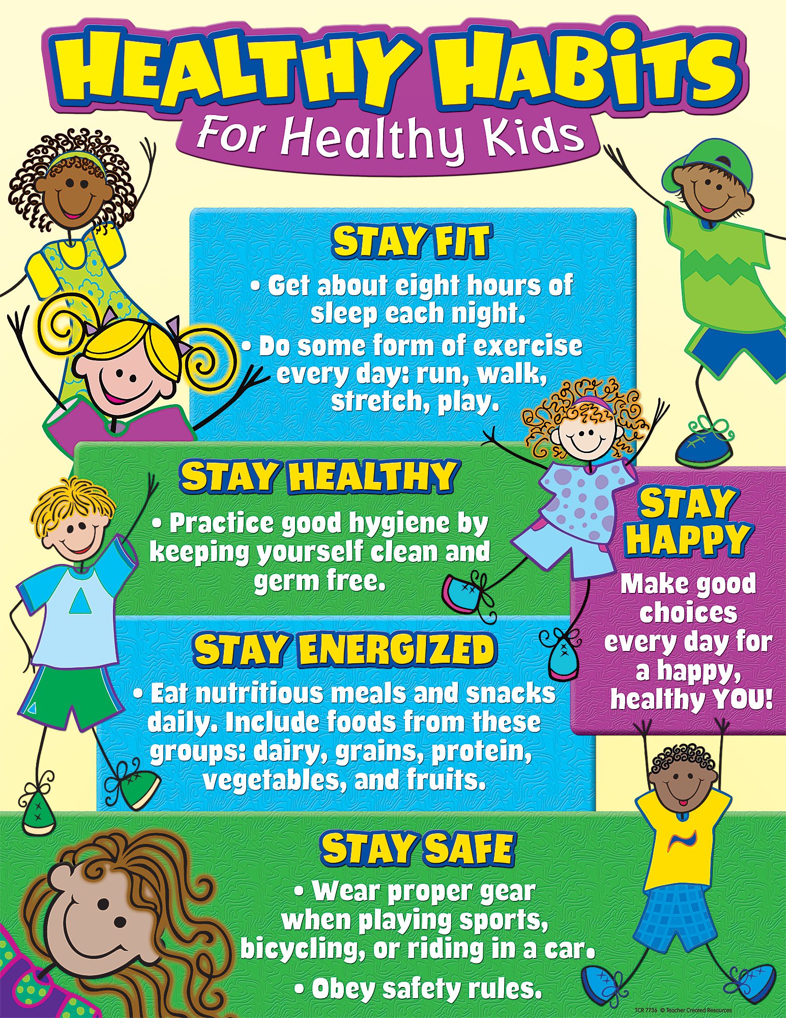 Healthy Habits for Healthy Kids Chart - TCR7736 | Teacher Created Resources - Good Habits For Kids PNG