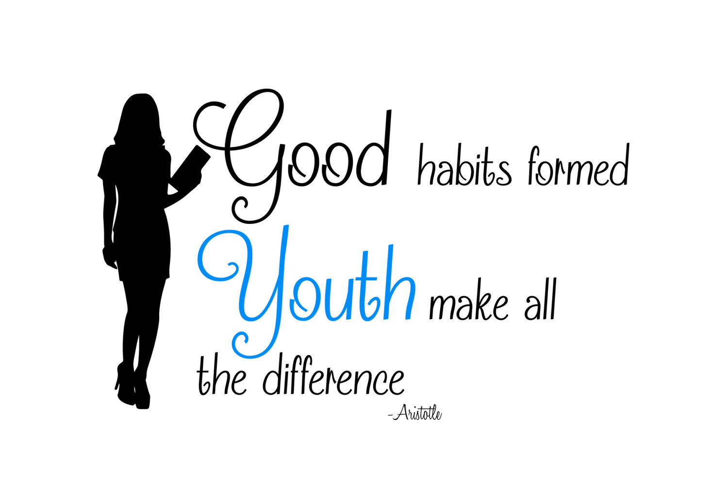 This is a digital file - Good Habits PNG