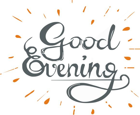 Good Evening logo - Good Night PNG
