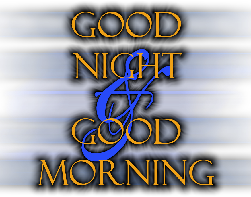 good night and good morning hd by electricmotion PlusPng.com  - Good Night PNG HD