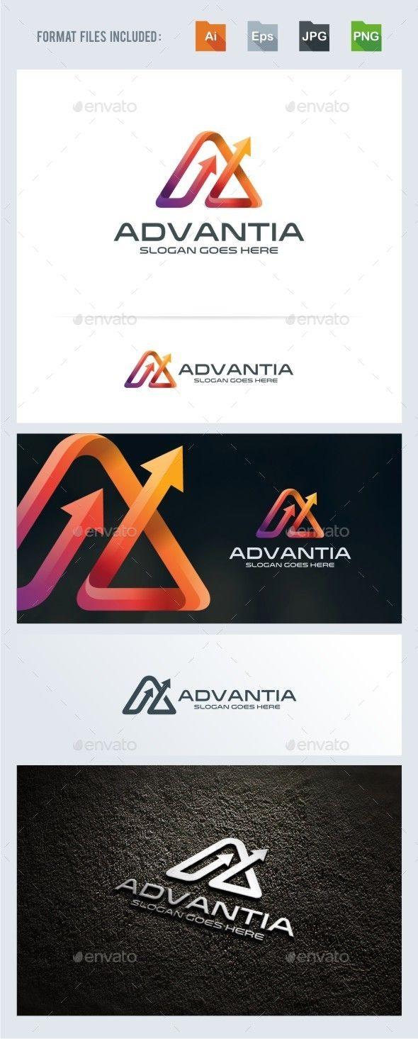 Advance - A Letter - Arrow Logo Template - Good Technology Logo Vector PNG