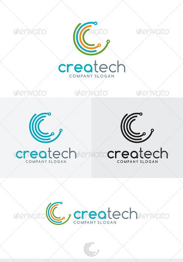Crea Tech Logo - Good Technology Logo Vector PNG