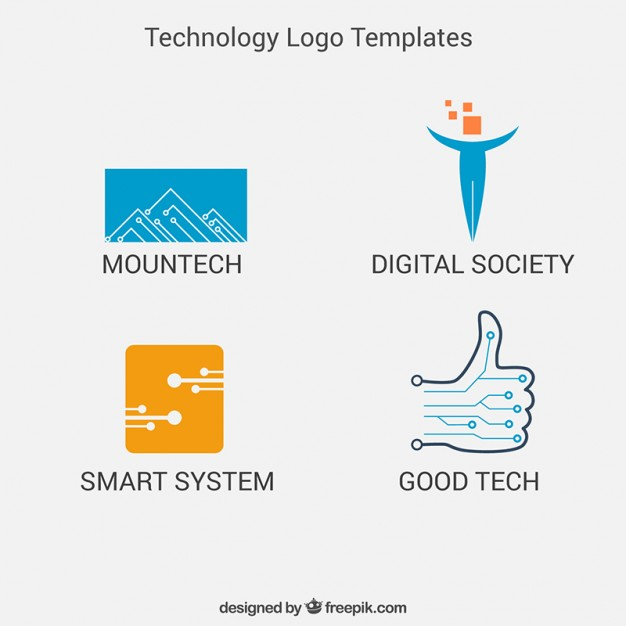 Technology logo templates pack - Good Technology Logo Vector PNG