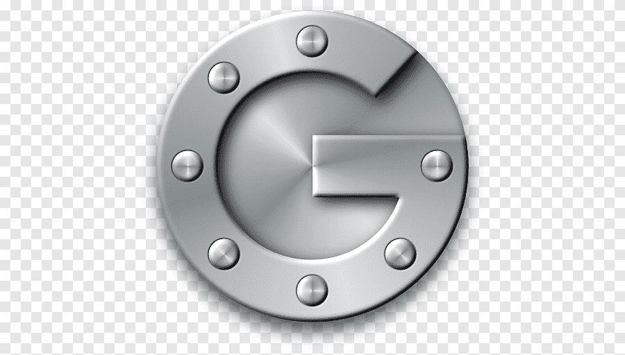 Silver Google Logo, Wheel Metal Material Rim, Google Authenticator Pluspng.com  - Google Authenticator Logo PNG