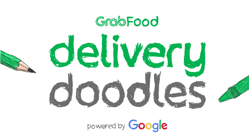 Collaborating With Google, Grab Introduces Delivery Doodles Feature - Grab Food Logo PNG