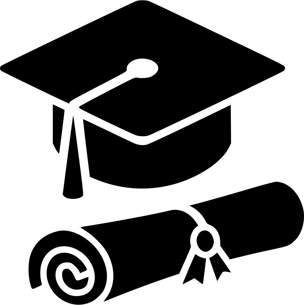 Graduation Cap Diploma Comments - Graduation Cap PNG Black And White