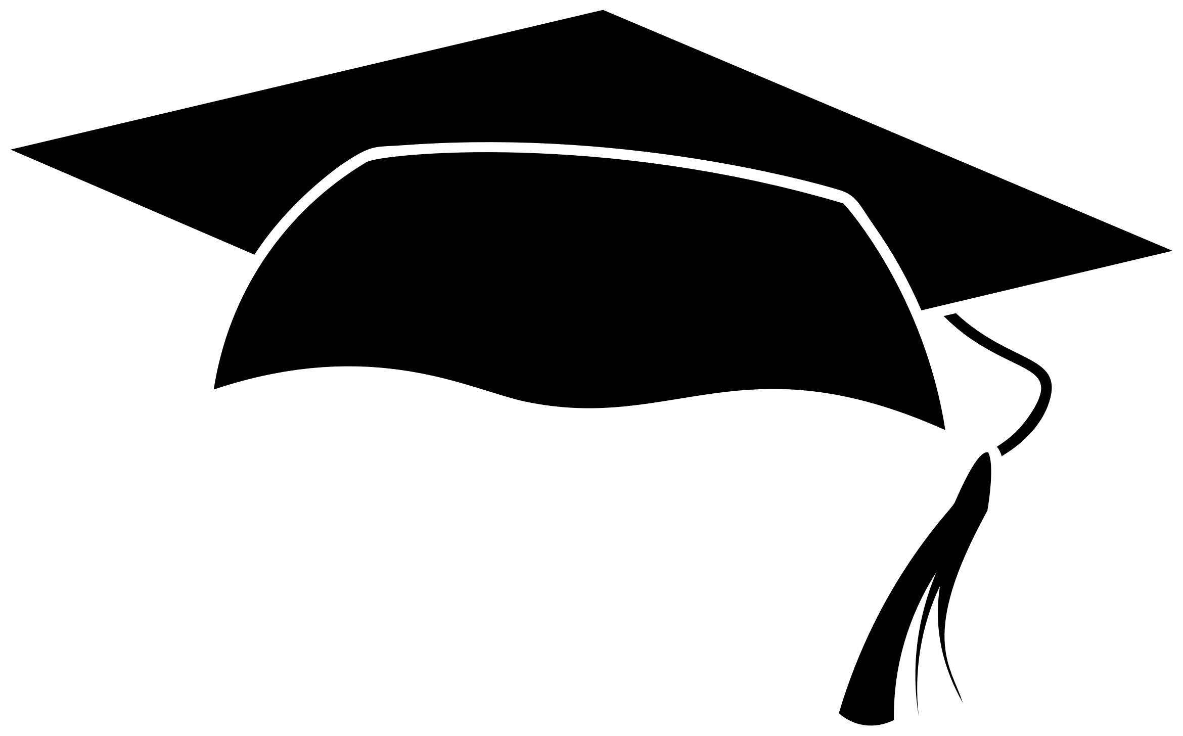 This free Icons Png design of Graduation Cap Icon PlusPng.com  - Graduation Cap PNG Black And White