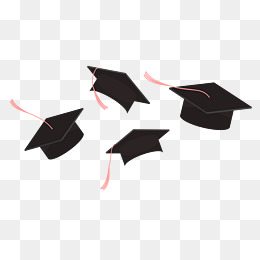 throwing cap, Education Teaching, Graduation Season, Bachelor Cap PNG Image  and Clipart - Graduation Cap PNG Black And White