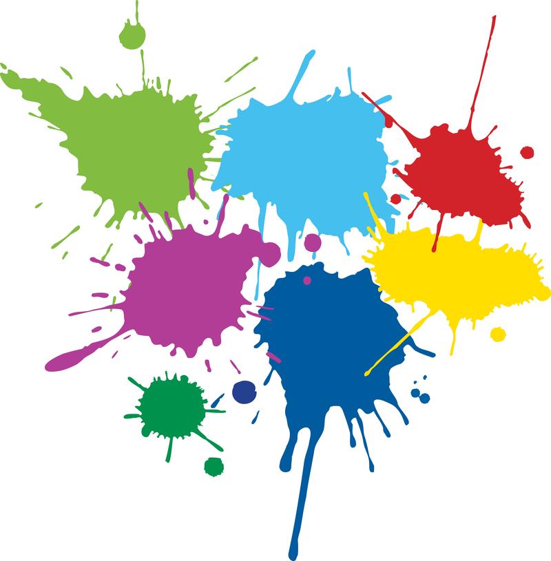 Color Ink Droplets Graffiti V
