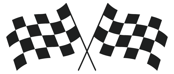 transparent checkered flag clipart - Grand Prix PNG