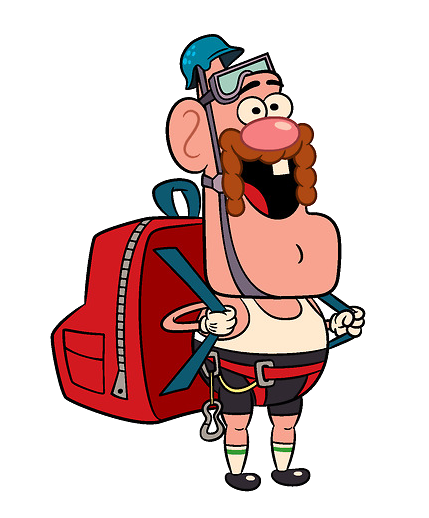Uncle grandpa hiker.png - Grandpa PNG HD