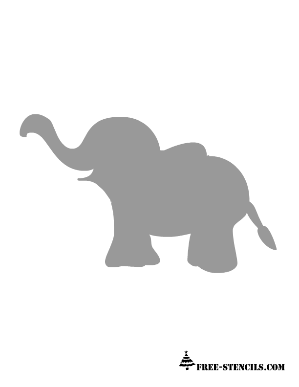 Gray Baby Elephant PNG - 143001