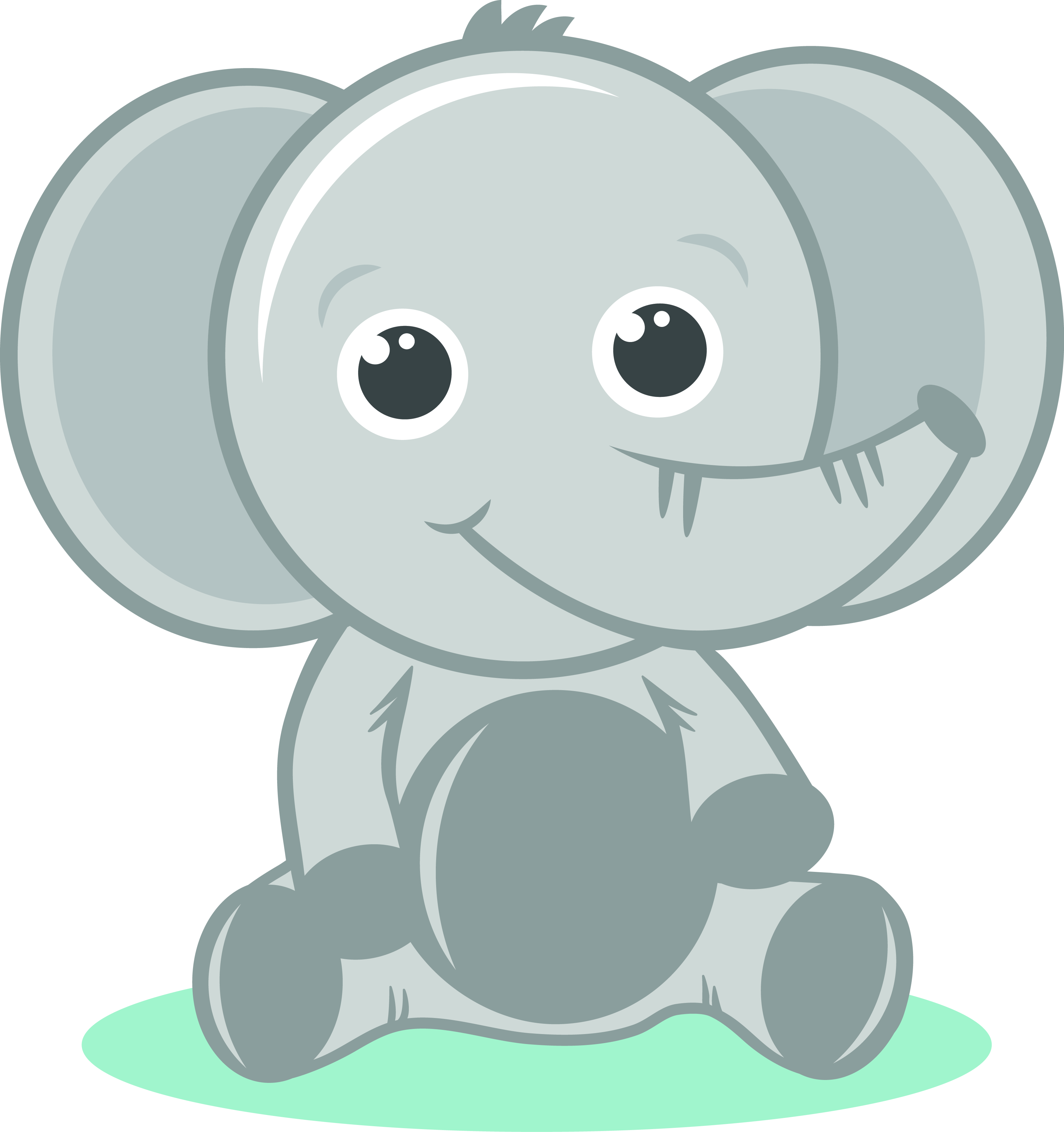 Gray Baby Elephant PNG - 142995