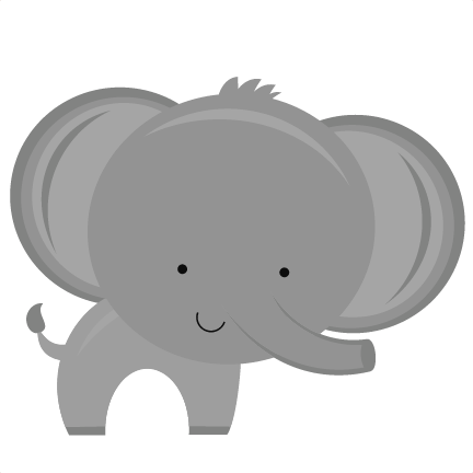 Baby Elephant PNG Background Image - Gray Baby Elephant PNG