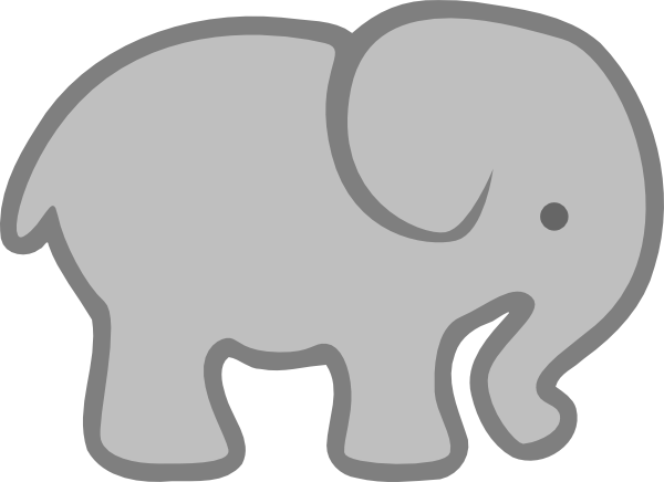 Gray Baby Elephant PNG