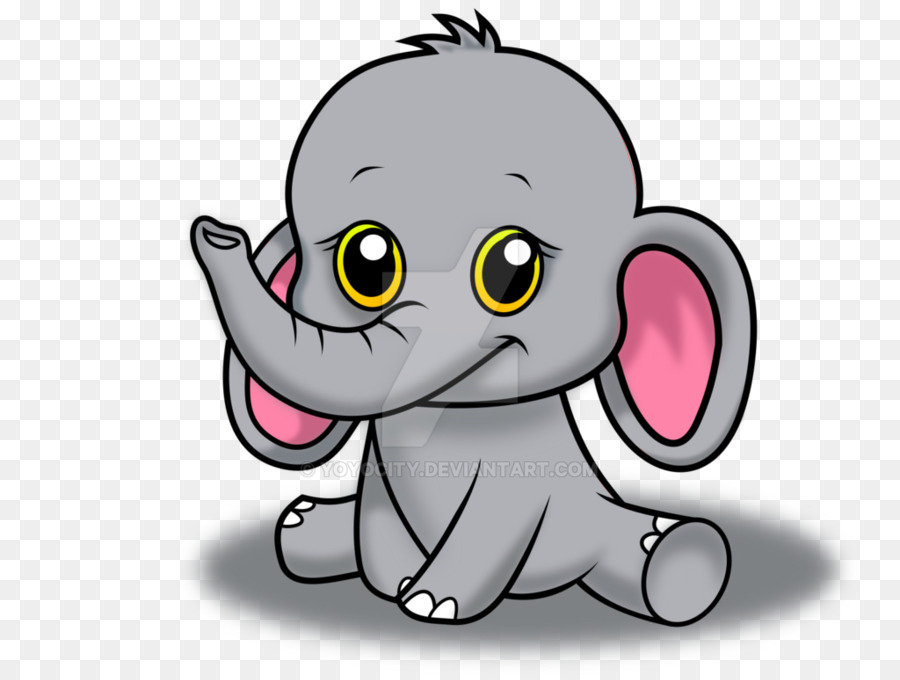 Gray Baby Elephant PNG - 143007