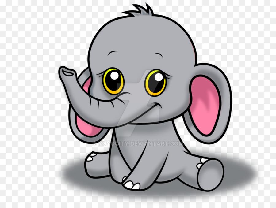 Drawing Cartoon Cuteness Animal Sketch - baby elephant - Gray Baby Elephant PNG