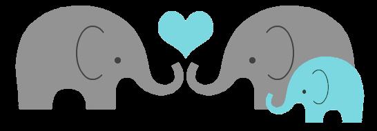 elephant family baby heart pn