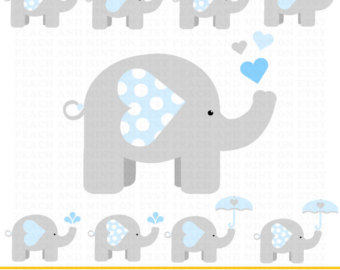 Gray Baby Elephant PNG - 143002