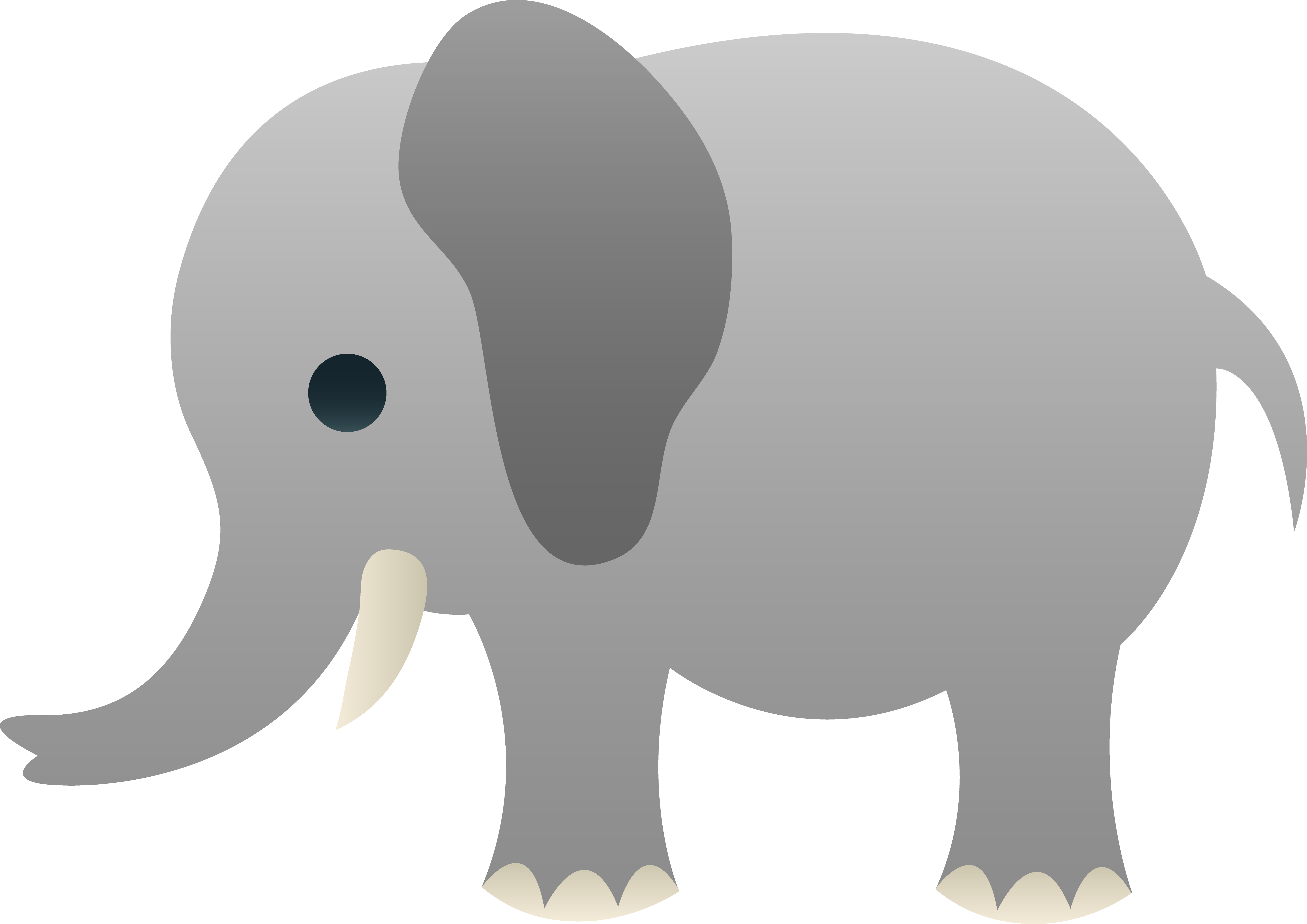 My free clip art of a cute gray elephant - Gray Baby Elephant PNG
