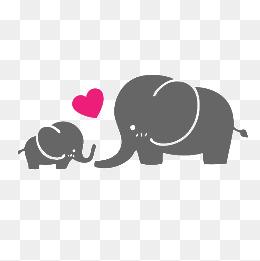 parent-child baby elephant, C