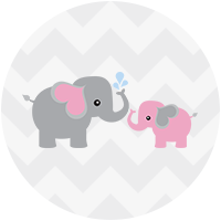 Rainbow Showers Pink and Gray Elephant Blue and Gray Elephant Yellow and Gray  Elephant Green and - Gray Baby Elephant PNG