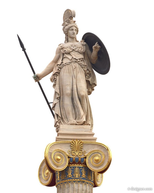 Goddess Athena the patron of