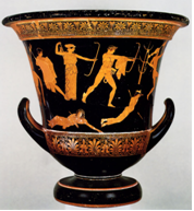 Alexander the Great, Niobid Painter Vase.png - Greek Urn PNG